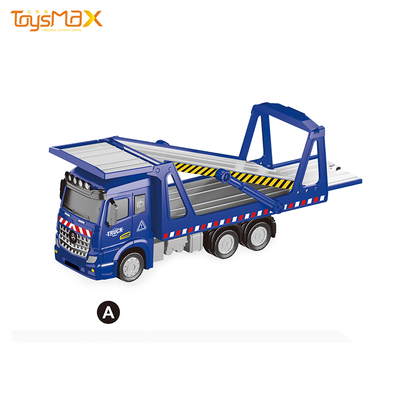 2019 New Europe style 1:46 Scale  Popular Pull Back Metal Transportation Truck Toys Battery operated Die Cast Model Truck