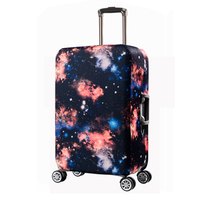 Elastic spandex protective bag luggage cover, nylon sublimation printed star galaxy trolley carry on cabin case suitcase cover