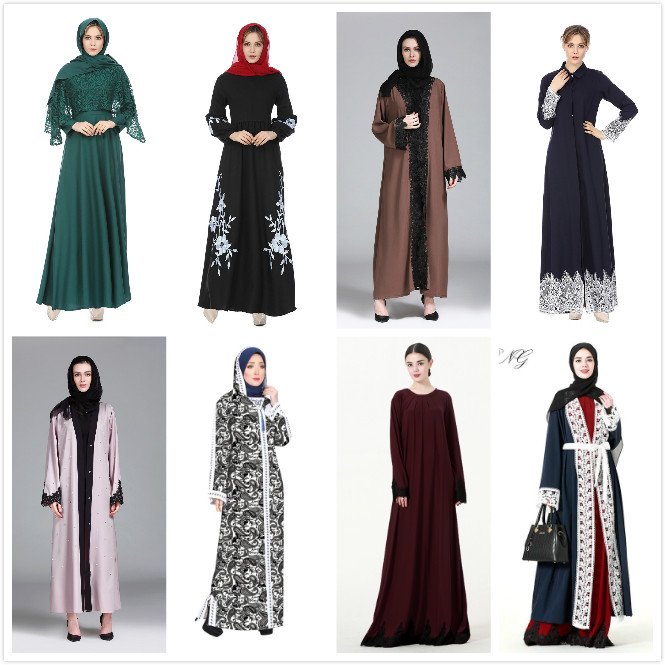 Malesia e indonesia Stile Islamico Abaya Jalabiya Kaftan Abbigliamento Hijab in Marocco