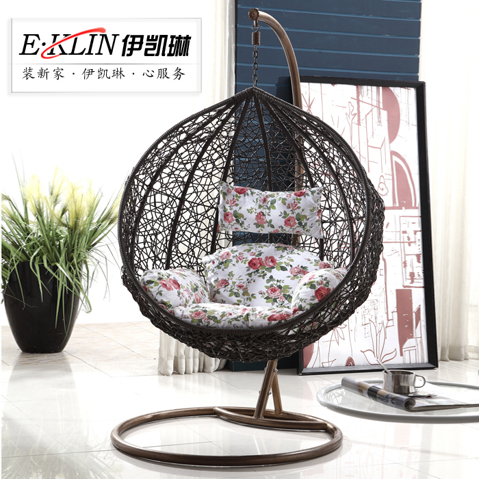 gartenm bel casual rattan h ngen korb rattan stuhl vogelnest indoor schaukel h ngesessel 6080 in. Black Bedroom Furniture Sets. Home Design Ideas