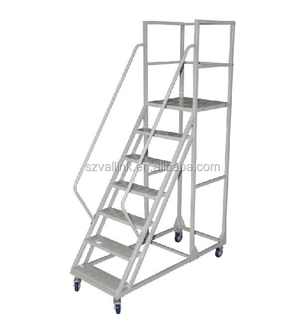 Industrial Easy Assembly Safety Rolling Platform Ladder