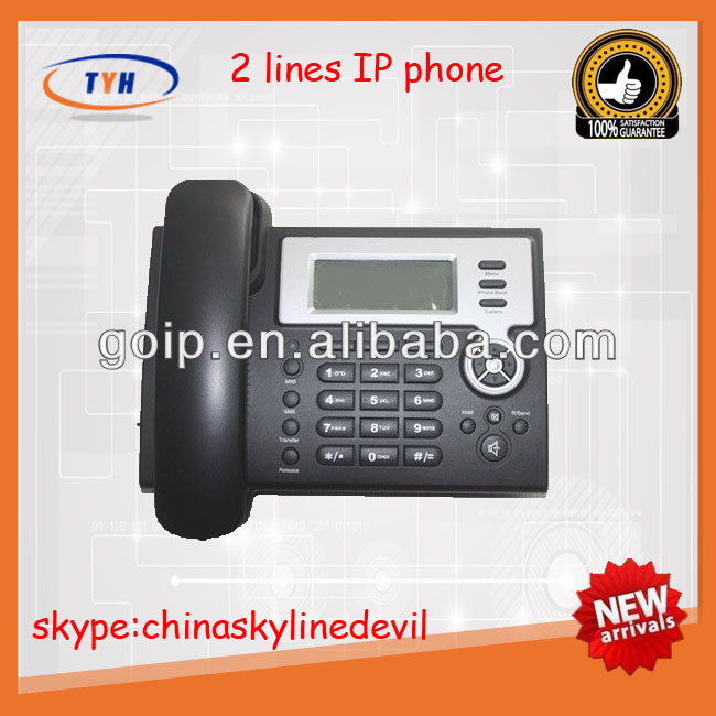Hot selling 2 line ip phone rj11 with vpn device
