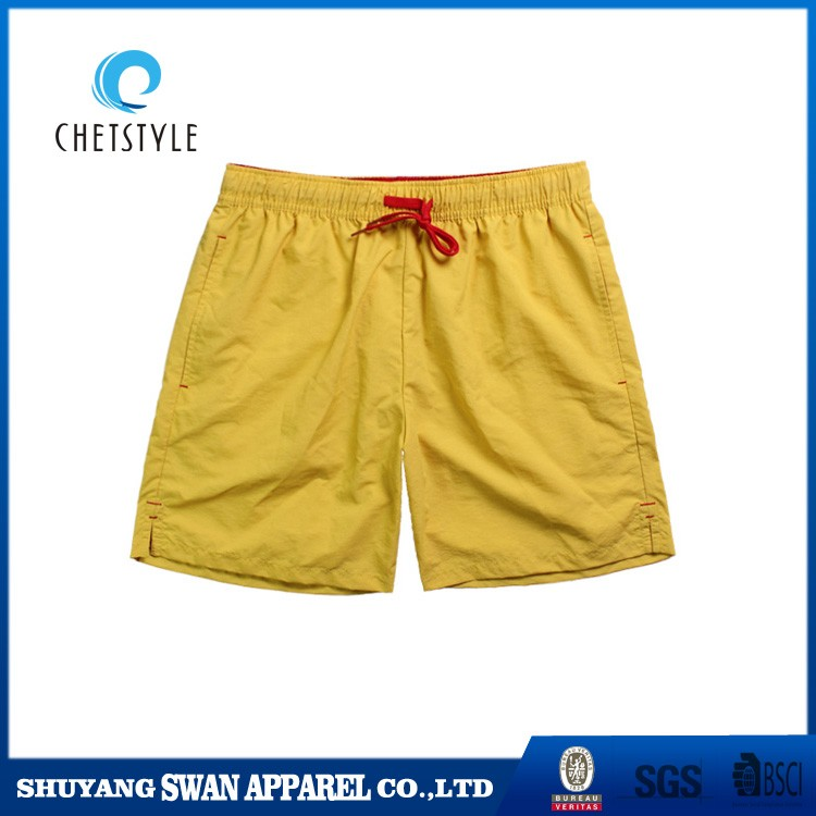 2017 new solid color summer swimwear bright waterproof shorts wholesale