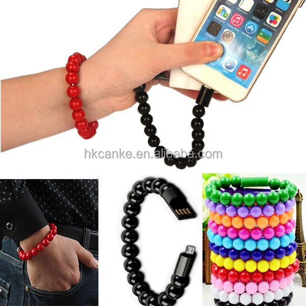 USB Data Cable For Samsung Micro USB Cable Bracelet with Magnetic cables