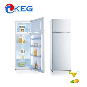 212L MEPS Approval Defrost Upper Freezer White House Refrigerator With Water Dispenser