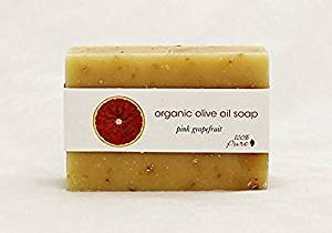100% Pure: Pink Grapefruit Organic Olive Oil Soap, 3.5 oz Certified Organic Cold Pressed, Handcrafted From the Highest Quality Botanical Ingredients and Scented with Essential Oils Lathering (2 Pack)