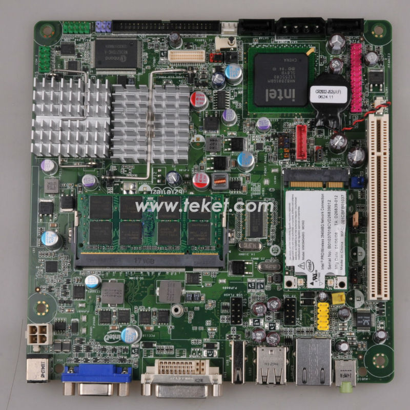 New Hot Sales, Intel Original Mini Itx Motherboard D945GSEJT IN STOCK, Atom N270 Fanless for thin client,POS, IPC+ RAM