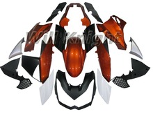 Plastic Injection Fairings For Kawasaki Z1000 10 11 12 13 ABS M otorcycle Orange White Black Fairing Kit Cowlings