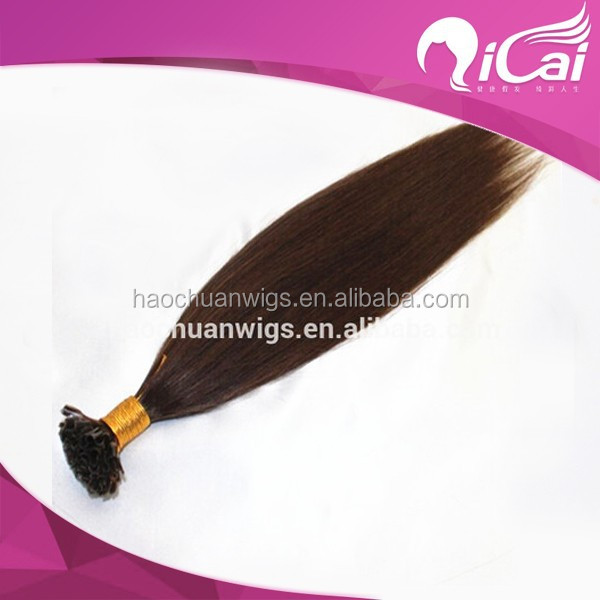 Human hair pre bonded hair extension/keratin hair extension/ u tip hair extension wholesale