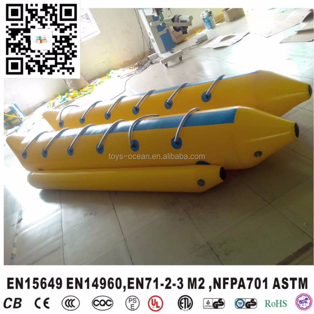 12 players motorized inflatable double tube banana boat for sale towable water toy