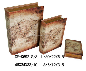 Antique world map pvc fabric covered fake book storage box buy antique world map pvc fabric covered fake book storage box gumiabroncs Choice Image