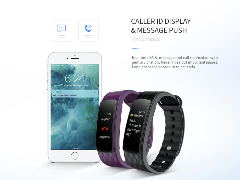 IWOWN I6 HR C Smart Bracelet Color Screen Heart Rate Monitor Smart Sport Wristband Fitness Tracker