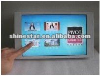 "14"" Touch screen LCD multimedia player with desktop standing"