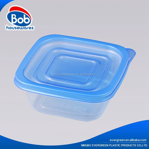 Disposable small square plastic food storage container
