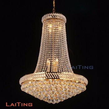 Laiting Dia 90cm Re Cristal Vintage Style Chandeliers Gold Foyer Chandelier K9 Crystal For Home Deco
