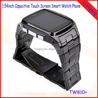 Newest Capacitive Touch Bluetooth Cell Phone Watch sync facebook, twitter, email, pedometer etc Smart Watch