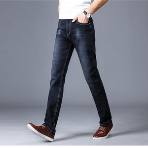 Hot Sale Mens Straight Design Business Jeans Casual Fashion Denim Jeans Pants
