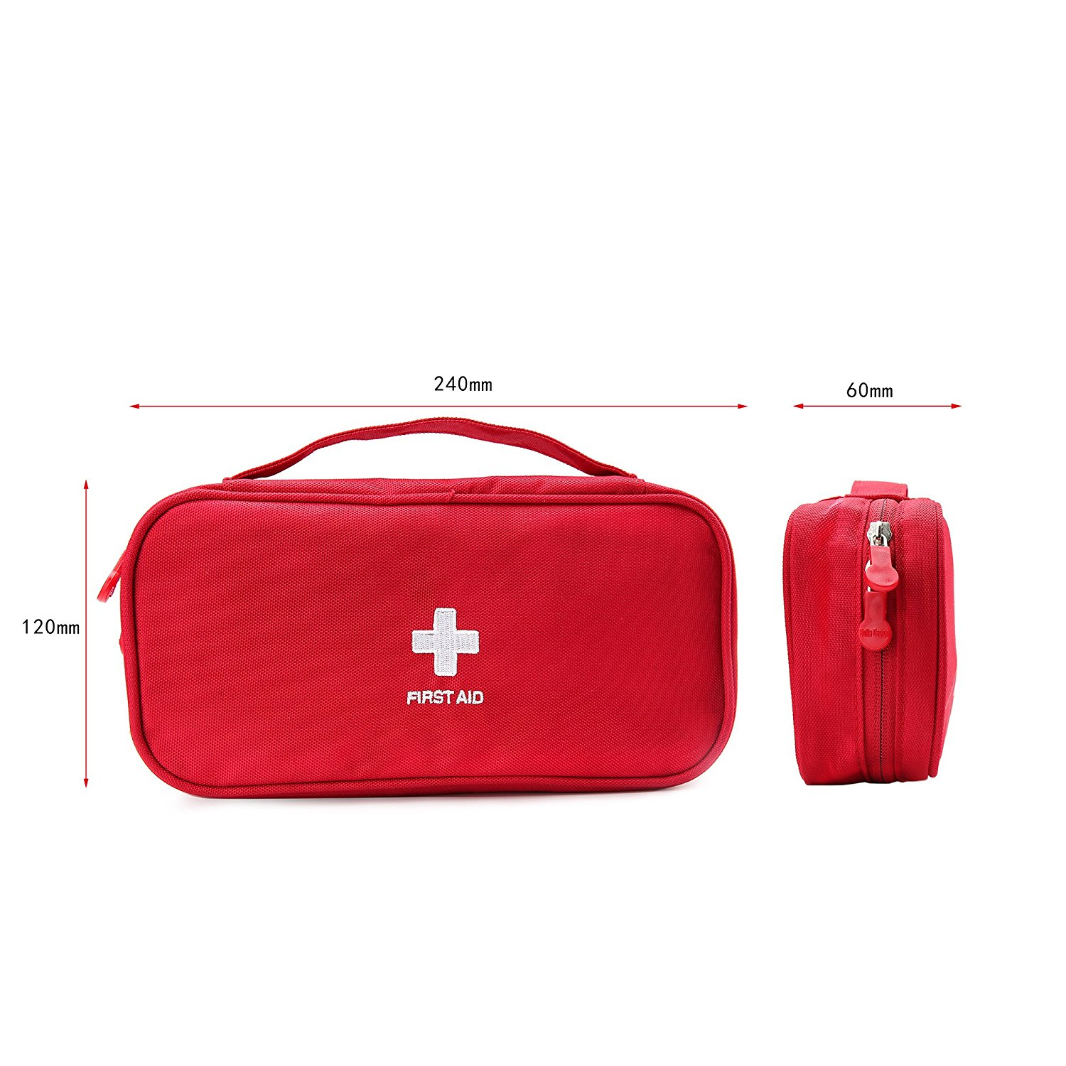 First Aid Kit Emergency Survival Outdoor Red Pouch