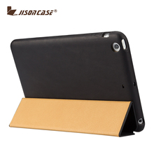 Jisoncase Fashion Holster Genuine Leather Case Cover For Ipad Cover For IPad Mini 2 Tablet Covers Cases