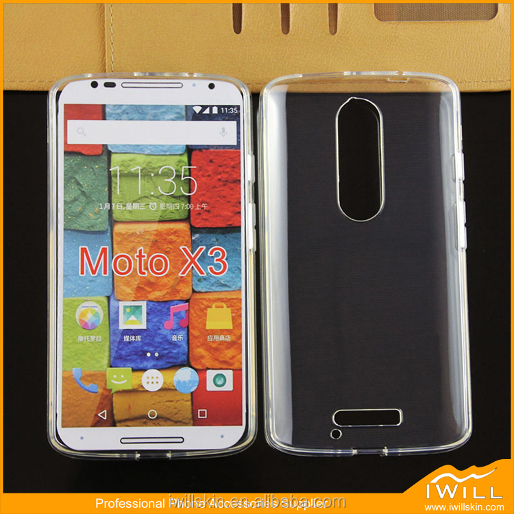 Transparent Crystal Clear Soft Case Cover For Motorola X3 / X Force Phone Case