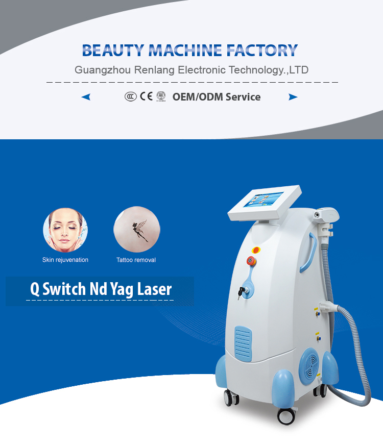 ND YAG laser Q-switch/skin rejuvenation and  tattoo Removal laser equipment