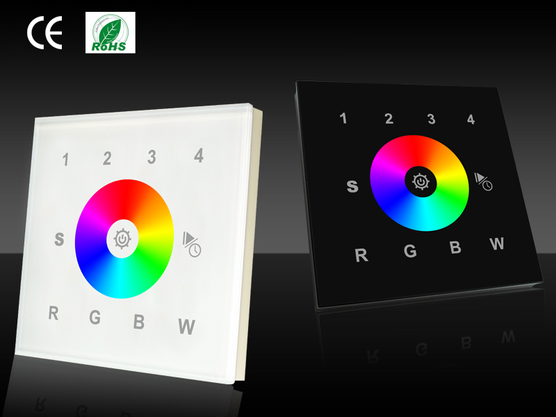 4 Zones Black Glass Fronted Dmx Rgb Colour Change Wall Panel - Buy 4 Zone  Fire Alarm Control Panel,16 Zone Wired Alarm Control Panel,Rgb Led Touch