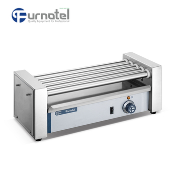 Furnotel 5-Roller Electric Hot Dog Grill Machine