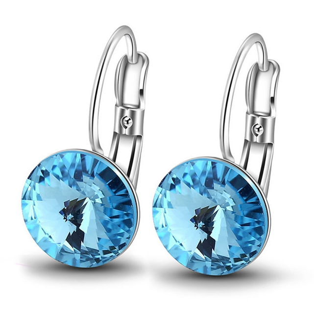 28457 Xuping Crystals from Swarovski new latest gold earring designs, earring factory china