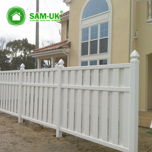 4 ft. H x 6 ft or 8 ft. W unassembled white cheap shadowbox garden PVC fence