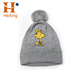 wholesale custom embroidered winter knitted cc beanie hat