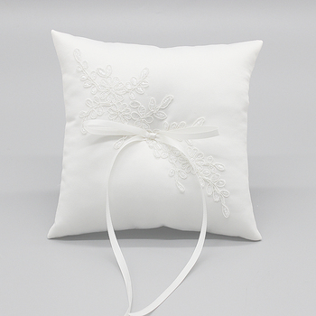 R0477-2 Elegant Embroidery Satin Wedding Pillow/Ring Pillow