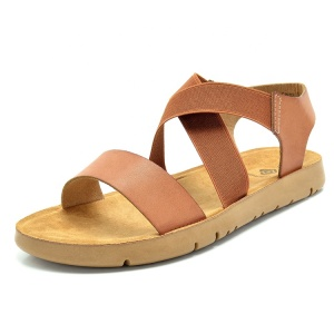 Wholesale Summer Flat Beach Shoes Fashion Girls Sandals Ankle Strap Women And Ladies Shoes