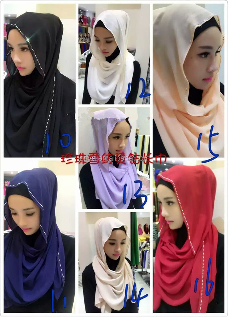 Professional factory cheap hijab wholesale high quality turkish hijab scarves