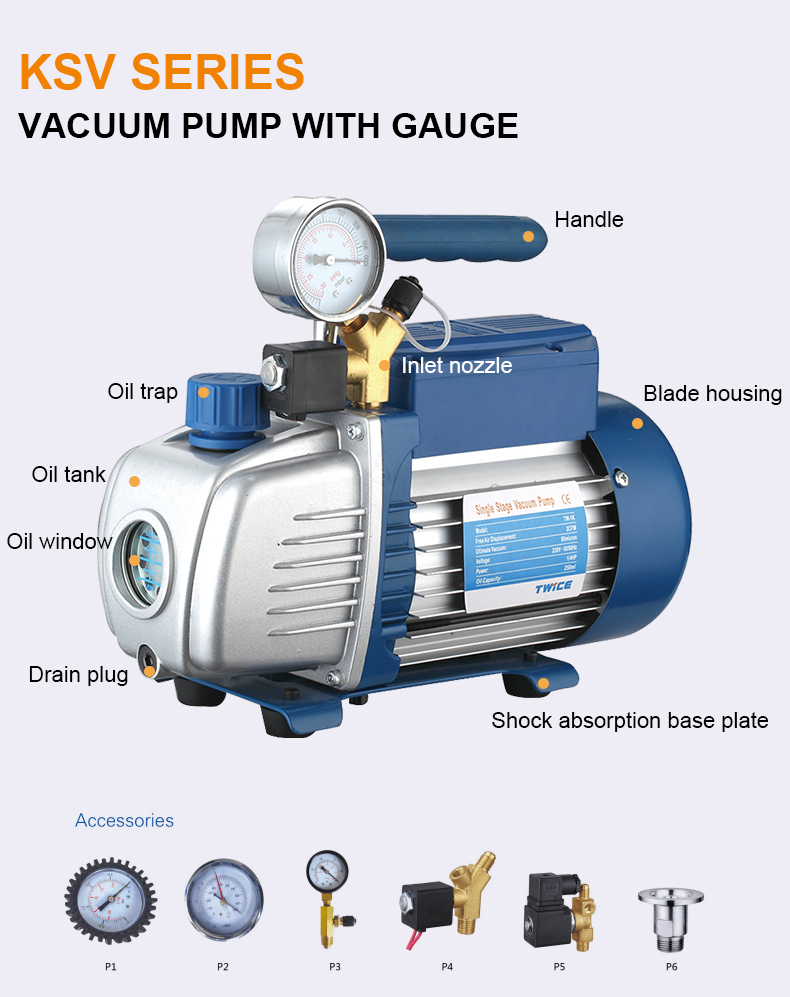 Air vacuum pump single stage pump TW-1K made in china