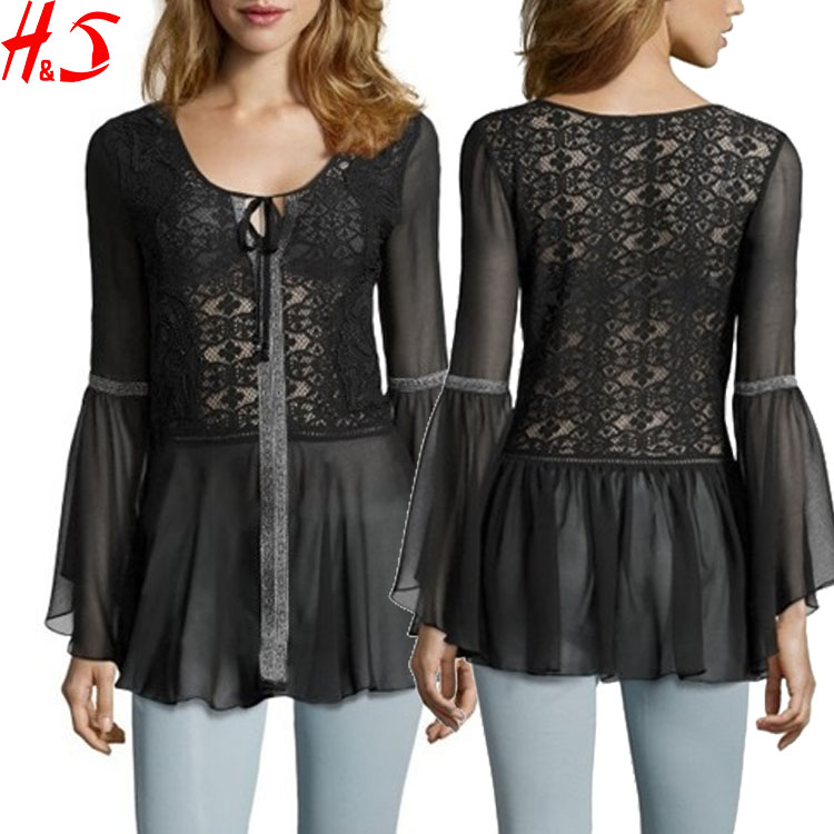 Hot Sale Only Ladies Woman Embroidered Blouse Design 2015