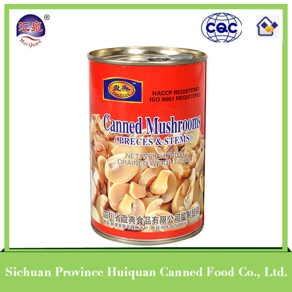 Gold supplier china chinese canned mushroom