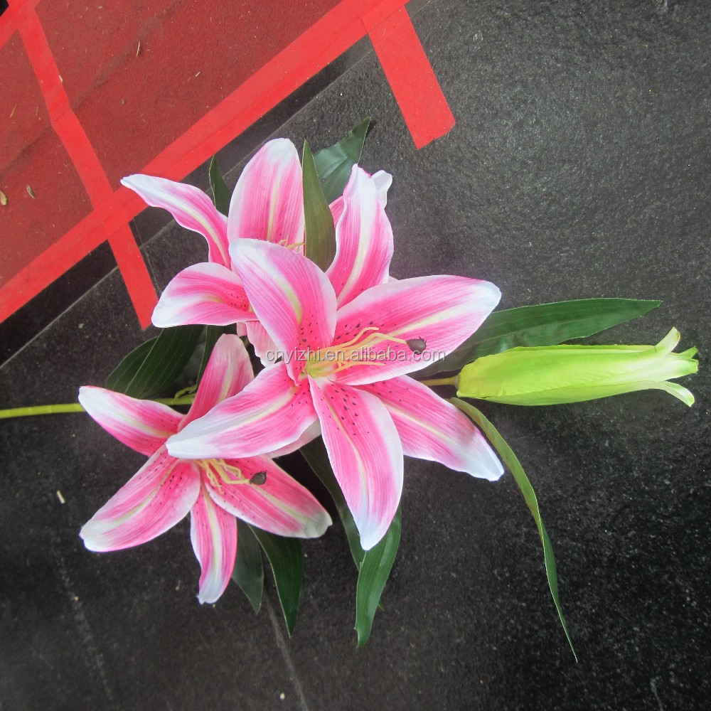 Artificial tiger lily wholesale pink artificial easter lily flower artificial tiger lily wholesale pink artificial easter lily flower real touch lily flower for wedding decor buy artificial tiger lilywholesale pink izmirmasajfo