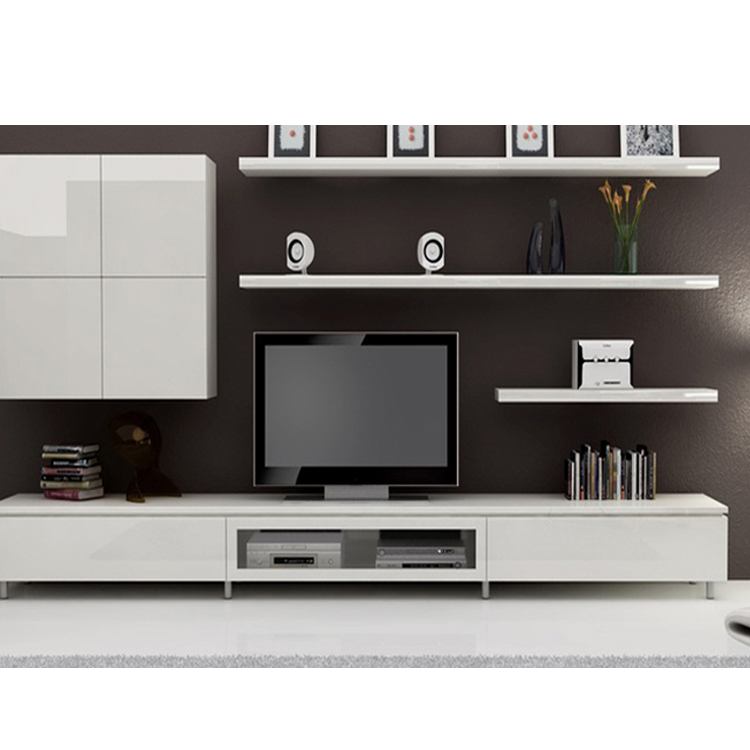 Modern Design Living Room Tv Stand Furniture Flat Wall Units Wooden Cabinet Designs