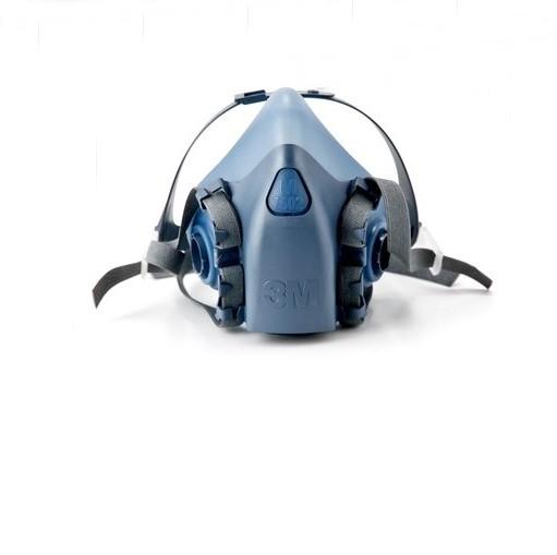 Medium 3M 7502 Respiratory Protection Half Facepiece Silicone Reusable Respirator - KingCare   KingCare.net