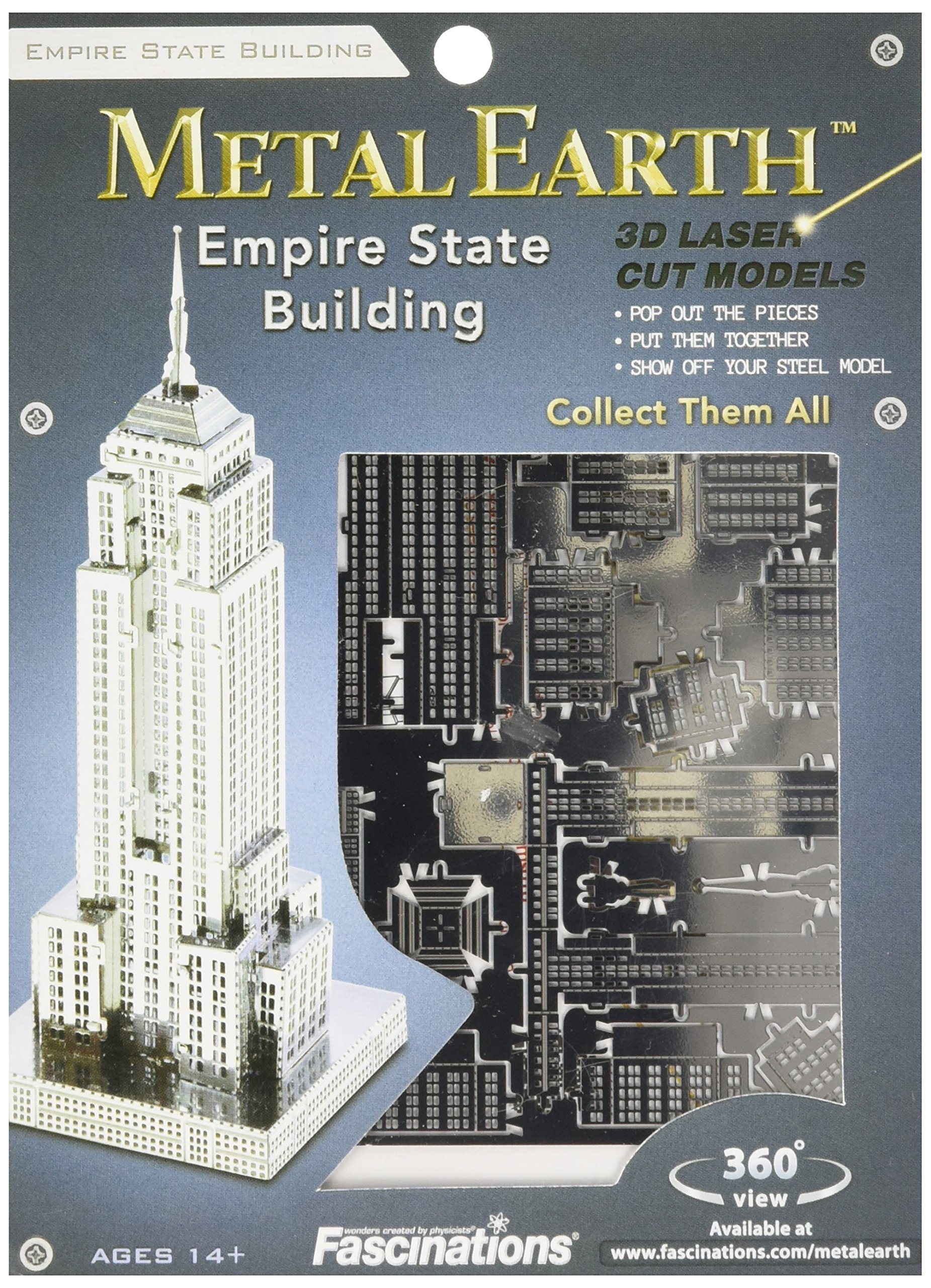 Fascinations Metal Earth Empire State Building 3D Metal Model Kit