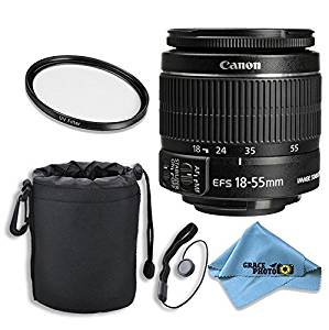 Canon EF-S 18–55mm f/3.5–5.6 IS II Lens Kit for Canon DSLR Cameras with Accessories - International Version (No Warranty)