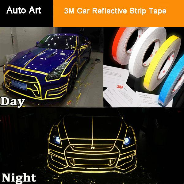 Reflective Strips Luminous Tape Decal Vinyl Film 3m Car