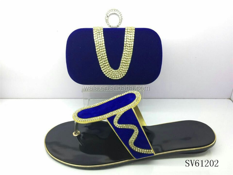 3 bag royal set high and fashion women ladies flat shoes quality multicolor SV61202 blue style 2016 shoes rhinestone beautiful Td5STw