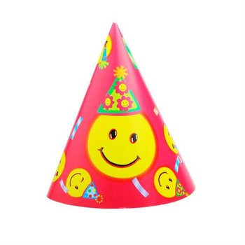 Promotional Paper Hats And Caps With Smiling Face Of Party Ideas ... c4101acdd9f