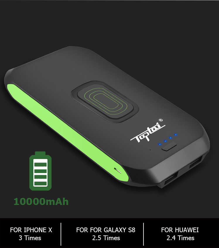 QI Power Bank,10000mAh Wireless Charger with 2 USB Ports Fast Charging_05(1).jpg