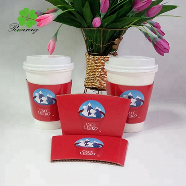 high quality corrugated disposable paper cup sleeve design