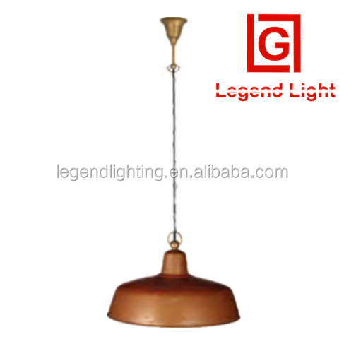 High quality pendant lamp aged Copper hanging Light classic copper led pendant light