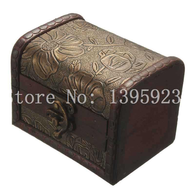 Vintage antique metal jewelry boxes
