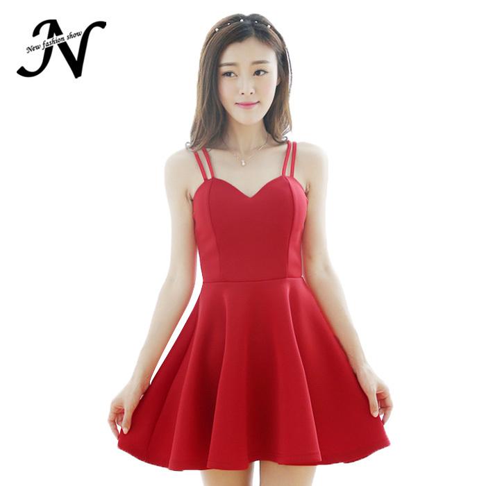 315ecf861e Get Quotations · Summer Style Plus Size Women Clothing Sexy Halter Dress  Spaghetti Strap Red Dress Summer Women Dress