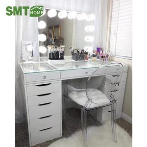 Simple mdf panel white bedroom furniture dresser